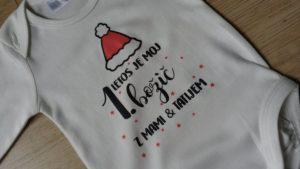 otroški bodi letos je moj prvi božič z atijem in mamicootroški bodi prvi božič božiček dear santa, fotografiranje, darilo, spomin, najlepše darilo, moj prvi božič pingvin 1 ati tati mami mama