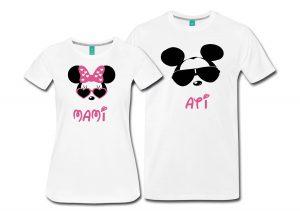 Komplet majic ati mami miki miška MINNIE MOUSE darilo praznovanje otrok rojstvo eno leto