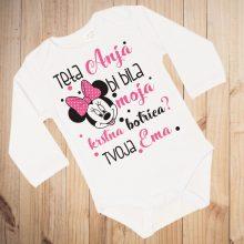 Otroški bodi - Krstna botra motiv minnie mouse