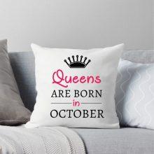 Vzglavnik - queens are born in - DARILO ROJSTNI DAN