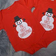 Otroški bodi - Moj prvi božič - MY FIRST CHRISTMAS - SNEŽAK