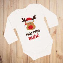 Otroški bodi - Moj prvi božič - Jelenček z božično kapico