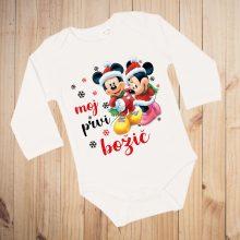 Otroški bodi - Moj prvi božič dve Miki miške