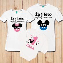 Družinski komplet - Minnie mouse za deklice - Miki Miška