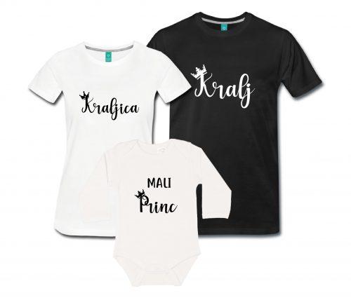 Družinski komplet - Kralj, kraljica in mali princ/mala princesa