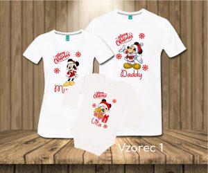 Družinski komplet - BOŽIČNA MIKI MIŠKA - mickey mouse [različni motivi]