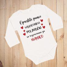 Otroški bodi - VALENTINOVO - poljubčki za mamico