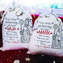 Vrečka za darila - Sveti Miklavž - Božiček